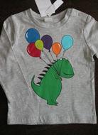 Obrázok z Tričko dino a balóny veľ.74