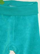 Obrázok z Tepláky velúrové tyrkysová zelená veľ.56