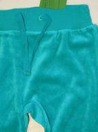 Obrázok z Tepláky  velúrové tyrkysové zelené 68