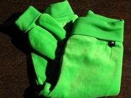 Obrázok z Tepláky velúrové zelené 68
