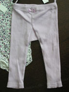Obrázok z Legínky vrúbkované bledofialové veľ.74