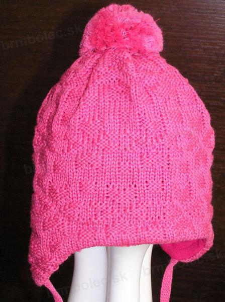 Obrázok z Pletená čiapka PODŠITÁ bavlnou veľ.47,49,51