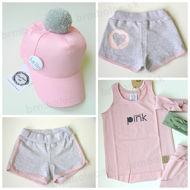 Obrázok z Šortky GREY pink 98/104, 110/116