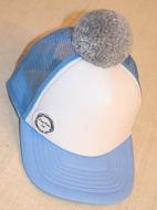 Obrázok z POM Šiltovka modro-biela, sivý brmbolec
