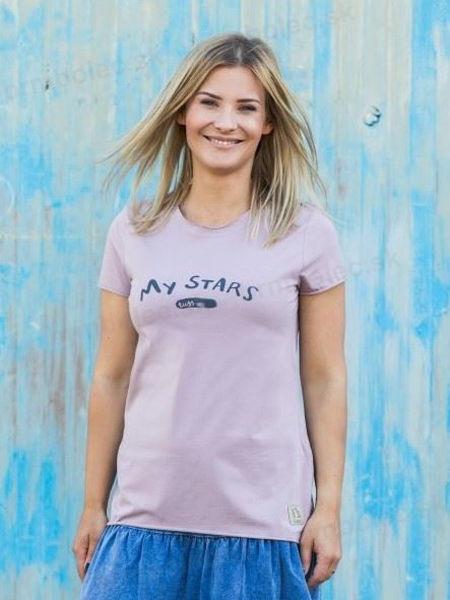 Obrázok z DÁMSKE tričko KR STAR ružové XS/S