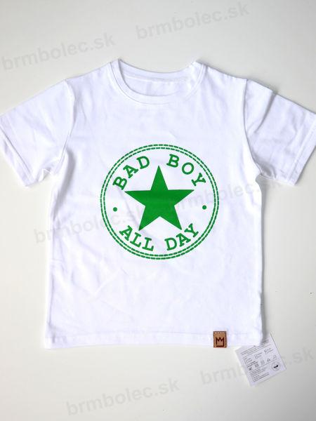 Obrázok z Tričko BAD BOY biela/zelená 98/104