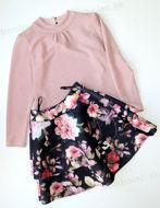 Obrázok z Sukňa kvety pink 146,152