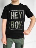 Obrázok z Tričko HEY BOY čierna/oliva