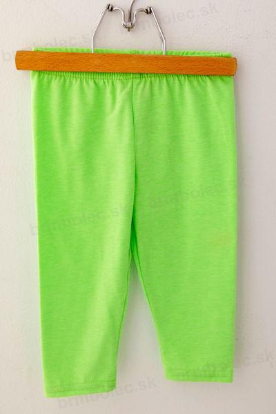 Obrázok z 3/4 legíny LILY- neon zelené 98 až 152