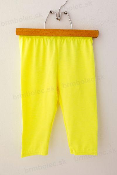 Obrázok z 3/4 legíny LILY- neon žlté 98 až 152