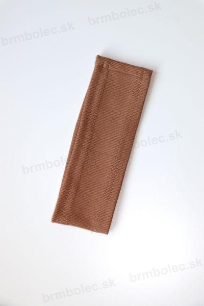 Obrázok z Čelenka vrúbkovaná hnedá UNI