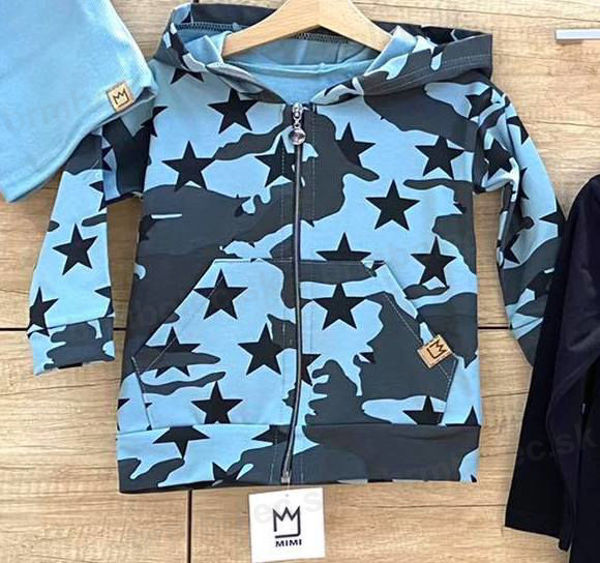 Obrázok z MIKINA na zips ARMY STARS AZÚROVO MODRÁ