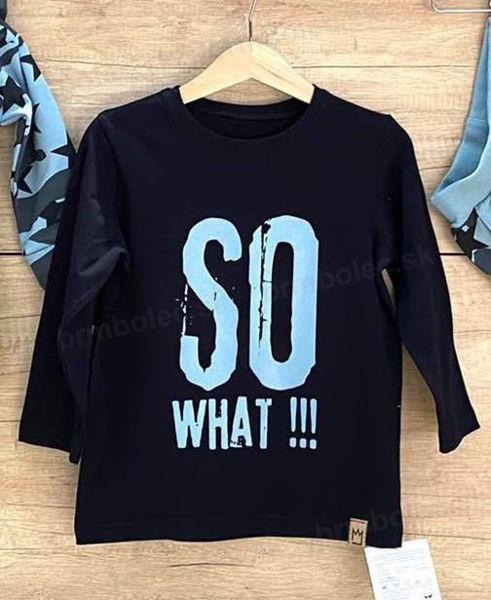 Obrázok z Tričko DR čierna/ bledo modrá SO  WHAT!!!