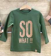 Obrázok z Tričko DR zelená/krémová SO  WHAT!!!